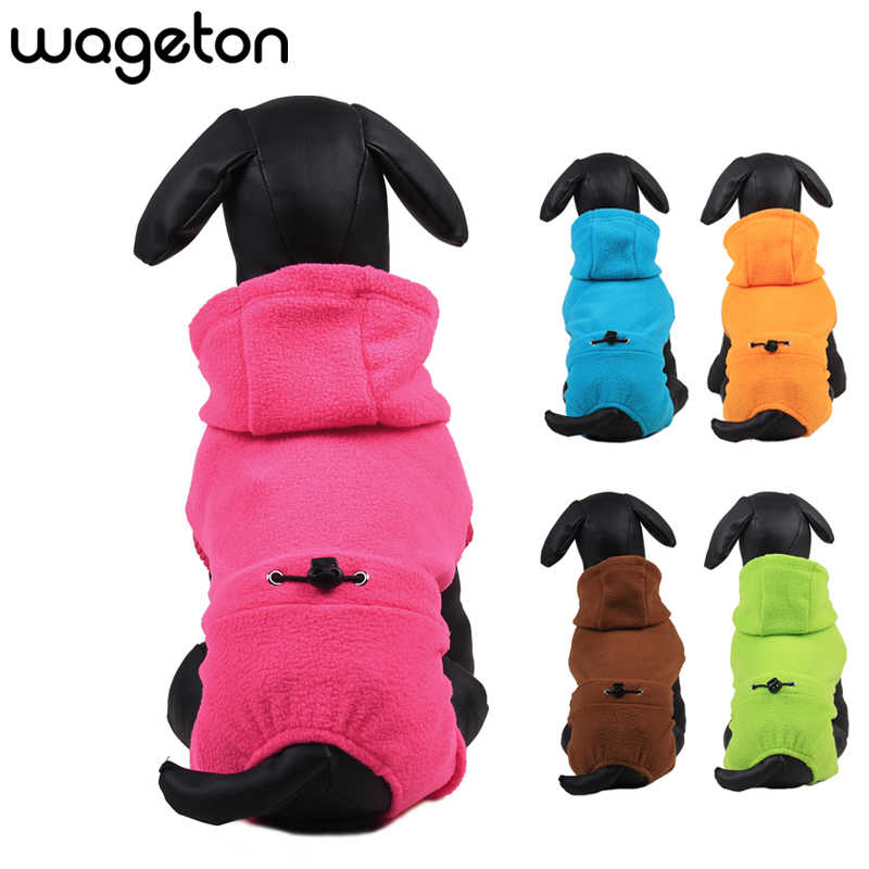 Dog Jumpsuit Warm Fleece Pet Clothes Coat Puppy Jacket Clothing Outwear Apparel Winter for Cats Small Dogs Chihuahua Yorkshire