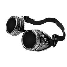 Новые сварочные кибер круглые очки готика стимпанк Косплей антикварная вещь, викторианский Косплей защитные очки линзы против пыли