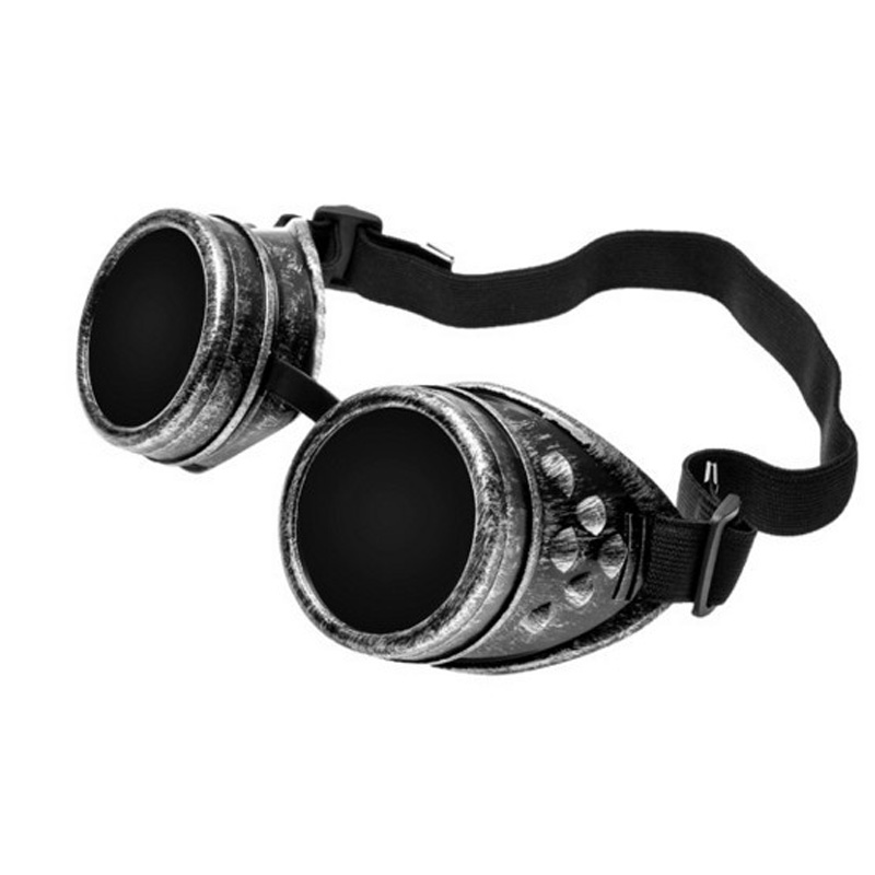 2019 NEW  Welding Cyber Round Goggles Goth Steampunk Cosplay Antique Victorian Cosplay Safety Goggles Lenses Anti Dust