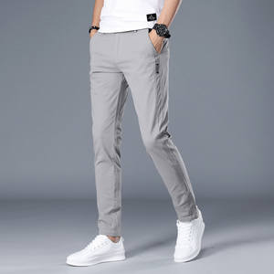 Men Pants Breathing-Pant Male Trousers Mid-Weight Business Classics Straight Casual Fashion