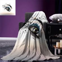 Ресницы бросок одеяло Искусство Мода иллюстрация с ручной нарисованной женский глаз драматический фантастический вид теплое одеяло из микрофибры