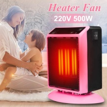 220v 500w Mini Electric Heater Fan Protable Slient Warm Air Blower Home Floor Desk Fan Heater Handy Infrared Heater