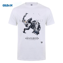 GILDAN fashion t-shirts for men Game Horizon Zero Dawn T-shirts Print Pattern Short Sleeve O-neck street Tee Shirts