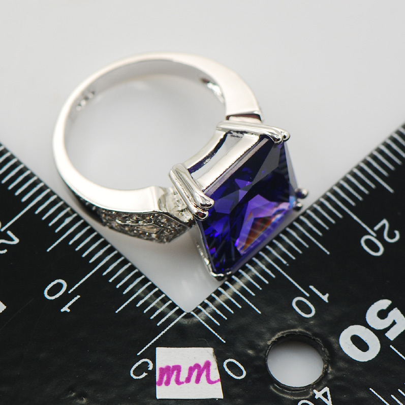 Ring piedra clara acero inoxidable mate señoras Anillo de cinta señores color plata