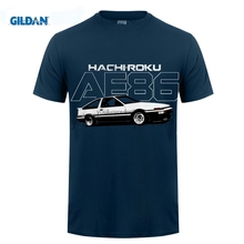 GILDAN Custom T Shirts Cheap Ae86 Hachiroku Drift Corolla Levin Trueno 4A-Ge Short Graphic O-Neck Tees