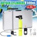 Más SMACO 500 ml Mini equipo de buceo cilindro de buceo reserva de oxígeno tanque de aire conjunto portátil bajo el agua de la boquilla