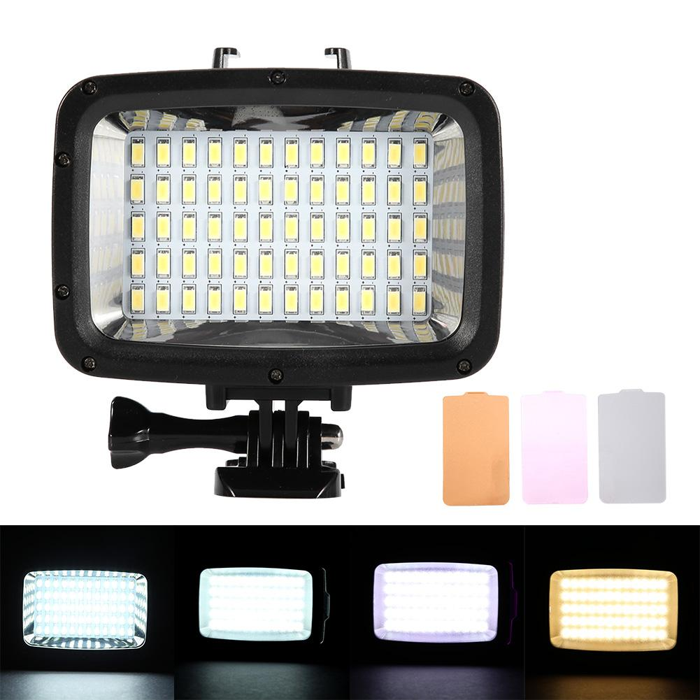 LED Profesional impermeable buceo LED cámara de luz de vídeo lámpara de iluminación 12 W