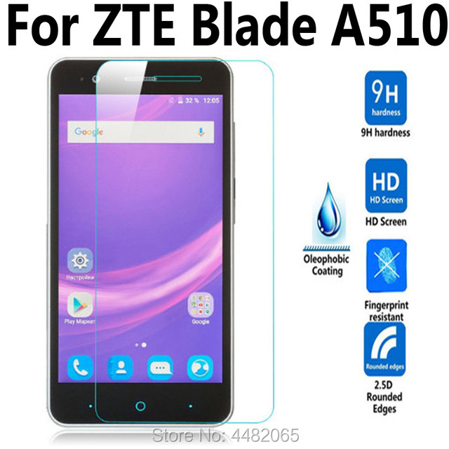 For ZTE Blade A510 / A510T / BA510 Tempered Glass Film For ZTE Blade A 510 Phone Screen Protector Cover Protective Film Case