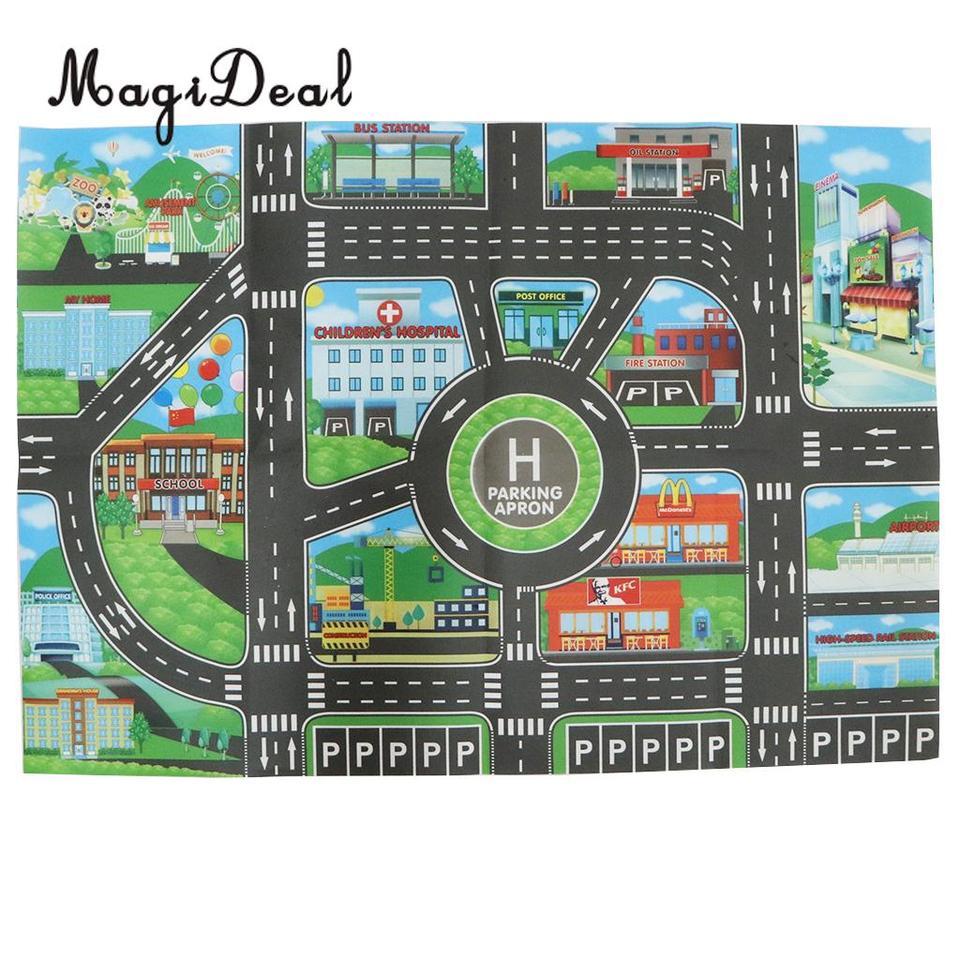 City Traffic Road Carpet Playmat Rug
