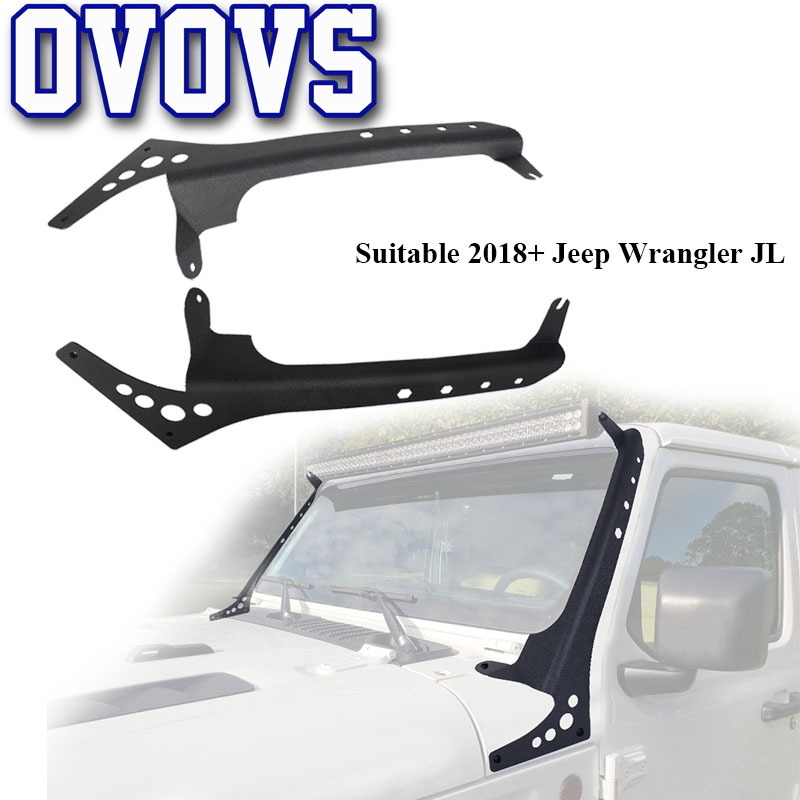 New Product 52 Led Light Bars Upper Windshield Mounting Bracket for 2018 Jeep Wrangerl JL Model