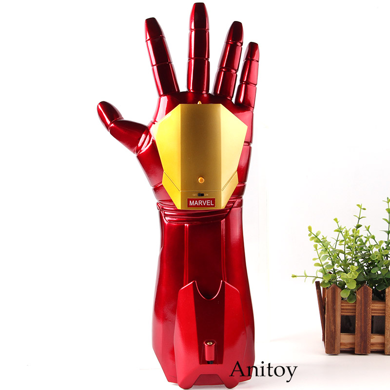 High Quality Cosplay 1/1 Iron Man Arm Glove With LED Light Infrared Launchable Action Figures Marvel Iron Man 3 Toy