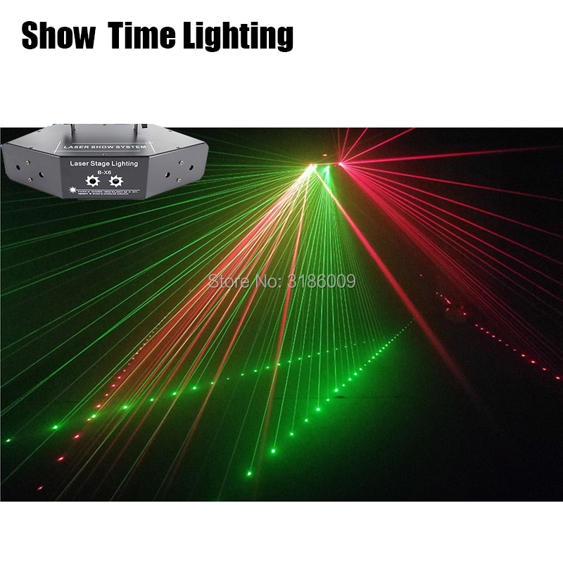 Hot Sale 6 Eyes Rgb Sancer Dj Laser With Pattern Disco Laser Dmx Stage Lighting Use For Home Party Holiday Show Time Lighting