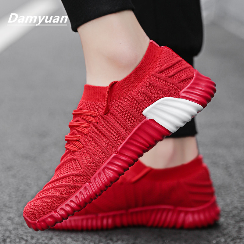 Damyuan 2019 New Style Traditional Footwear Males Footwear Ladies Flyweather Comfy Breathabl Non-Leather-based Informal Light-weight Footwear