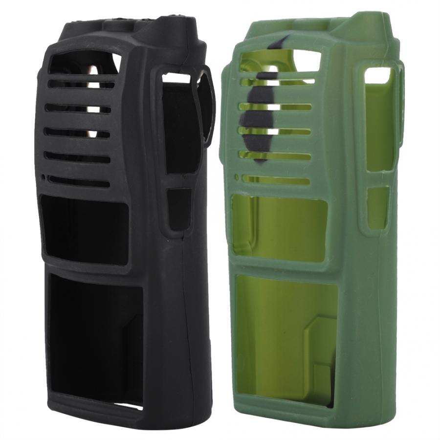 Walkie Talkies Soft Silicone Cover For UV82 Two-Way Radio Holster Protection Case Black / Camouflage(Optional)