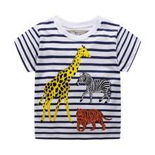 Kids Baby Boys T shirts Animals Stripe Clothes