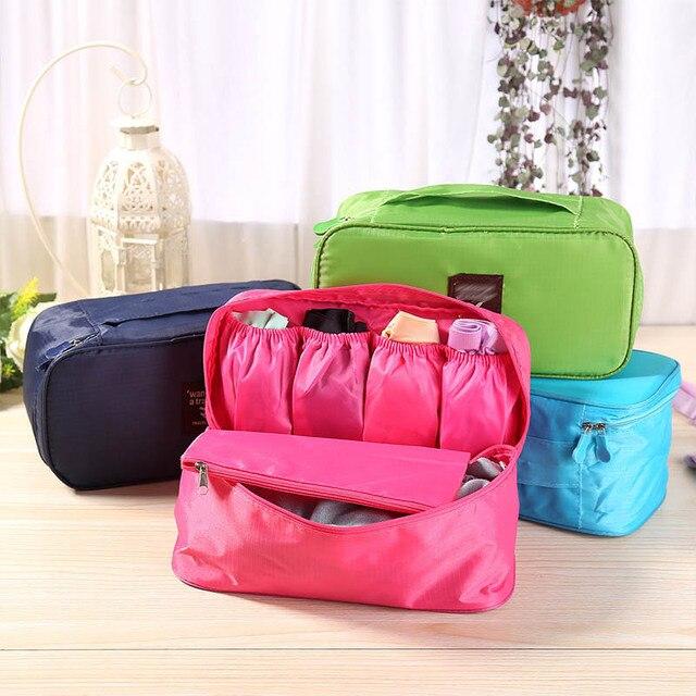Multifuncional lavado Paquete Impermeable neceser organizador de ropa interior sujetador acabado bolsas bolsa de cosméticos de alta capacidad caja de viajes