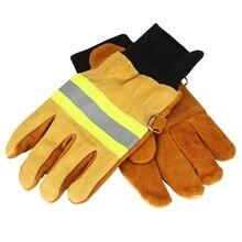 עבודה כפפות ריתוך כפפות אנטי קיטור בטיחות כפפות זוג של פרה עור כפפות חסין אש חום עמיד בטיחות כפפות עבודה