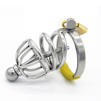 Stainless Steel Male Chastity Device Lock With Urethral Catheter Adult Sex Toys For Men Cock Rings Metal Penis Sleeve Cages