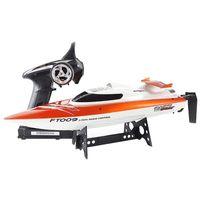 Feilun EU Plug FT009 2,4 GHz 4 канала водяного охлаждения высокоскоростная гоночная лодка RC подарок (orange)