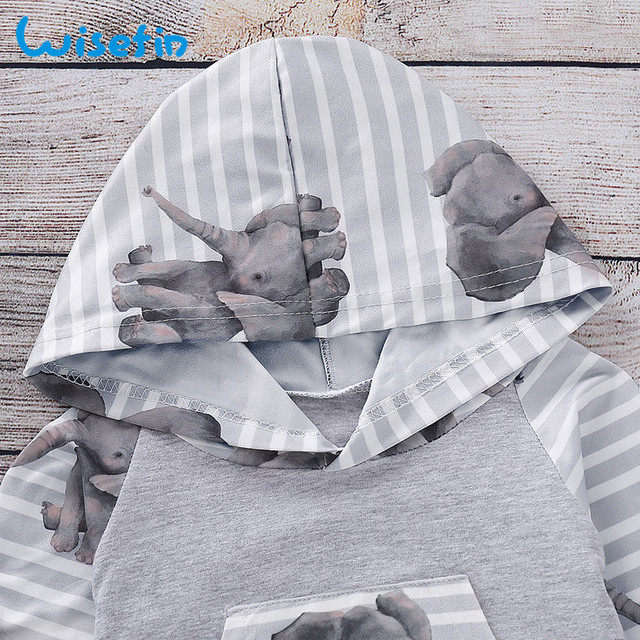 Wisefin Newborn Baby Boy Girl Clothing Set Long Sleeve Animal Elephant Infant Boy Outfit Winter Cute Baby Girl Clothes Autumn
