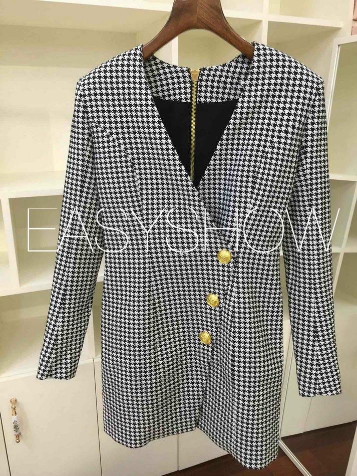 클래식 쉬폰 자카드 패브릭에 Z005 2019 코튼 섬유 블랜드 백 지퍼 드레스에 대한 양각 골드 버튼-에서드레스부터 여성 의류 의  그룹 1