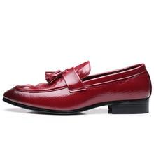 Модные мужские мокасины из Pu искусственной кожи; лоферы; Повседневные Удобные Кожаные мужские туфли; размеры 38-47; Новинка ручной работы