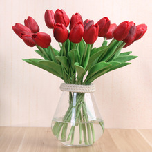 1PC Real Touch Tulips Artificial Flowers Latex Bouquet Fake Flower Mini Tulip For Home Wedding Decoration