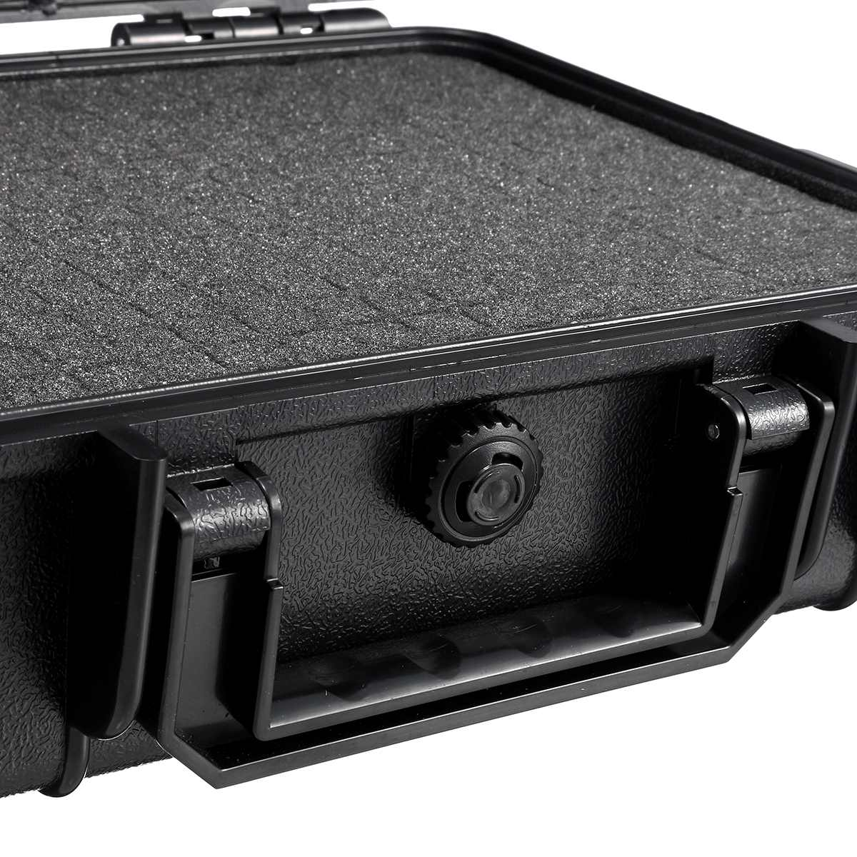 Portable Storage Box Waterproof Hard Carry Case Bag Tool Organizer W//Strap Black