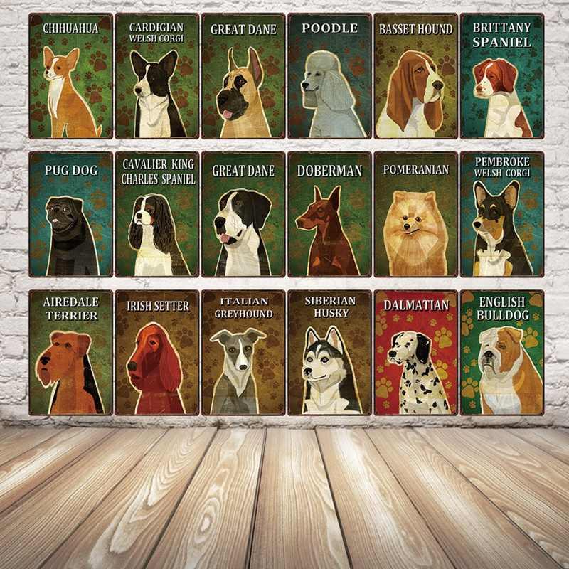 [Kelly66] Cani Chihuahua In Metallo Segno di Latta Poster Complementi Arredo Casa Bar Arte Della Parete Della Pittura 20*30 CM Formato y-2205