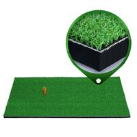 12''x24''Golf Hitting Mat Indoor Outdoor Tri Turf Golf Mats With Tees Hole Practice Golf Mat Protable Golf Training Aids