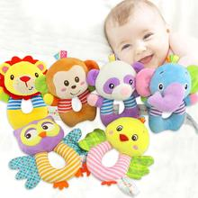 None Baby Infants Plush O-shape Hand Bells Cute Animal Grasping Rattle Toys