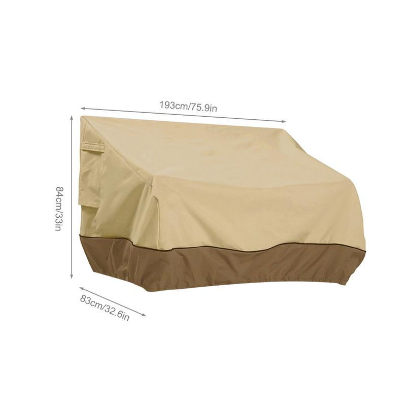 Oxford Cloth Outdoor Lounge Bench Cover Simple Fashion Water proof Dust proof Snow proof Wind Resistant Sofa Cover in Gazebos from Home Garden