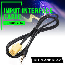 Brand New 3.5mm Gold Plated AUX Audio Cable Plug Input Adapt