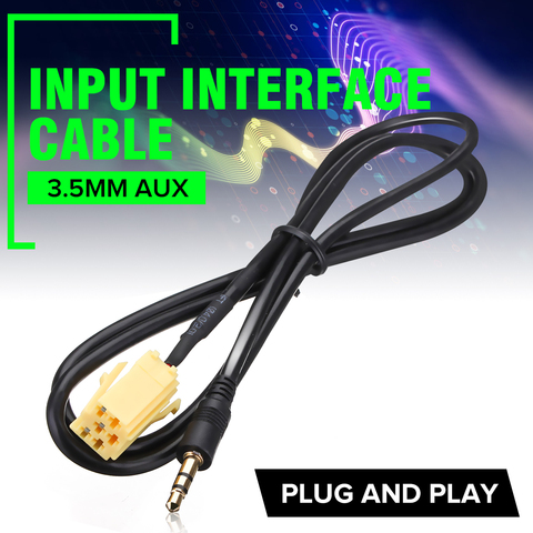Brand New 3.5mm Gold Plated AUX Audio Cable Plug Input Adapter For FIAT Grande Punto MP3 Pakistan