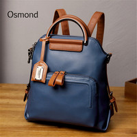 Osmond Small Female Travel Back pack Bag Women PU Leather Backpack 2018 Small Ladies Shoulder Bag Soft Leather Casual Mochila