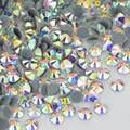 Прозрачные кристаллы AB с плоской задней поверхностью, стразы горячей фиксации, хрустальные камни для одежды