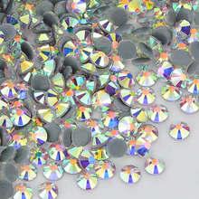 Pierres en cristal AB FlatBack | Cristal clair, strass à chaud, pierres de cristal correcteurs pour vêtements