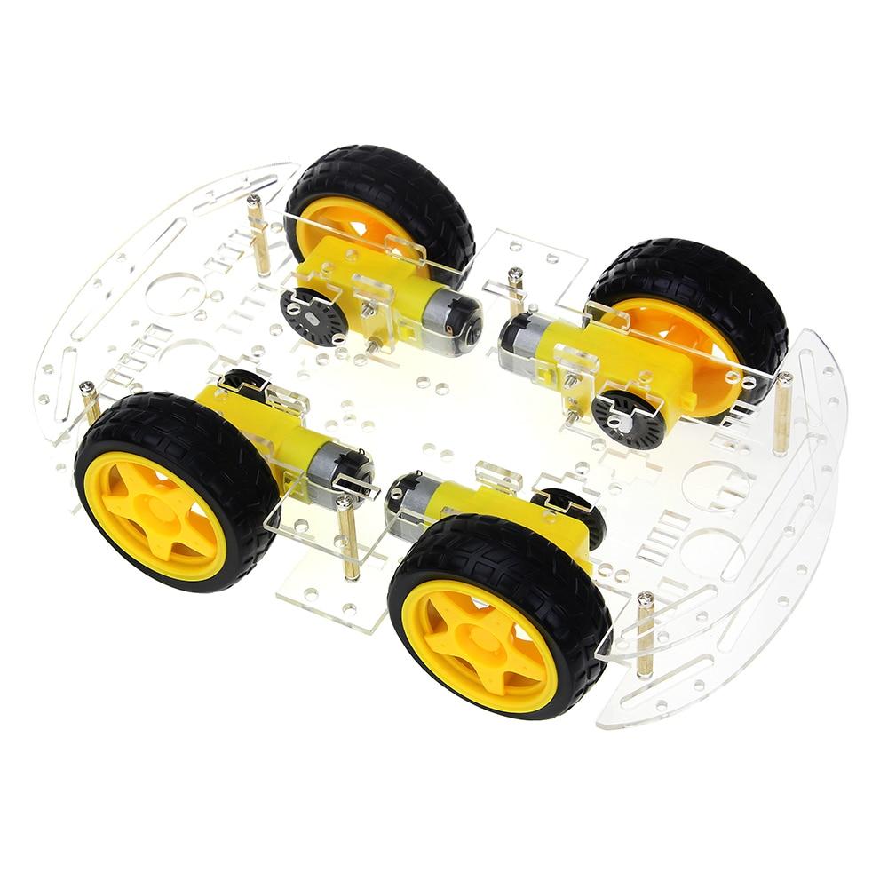 Inteligente Kit de coche 4WD inteligente chasis del coche Robot Kits con velocidad codificador y la caja de la batería para arduino Diy Kit