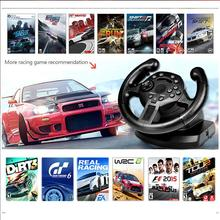 Racing Game Steering Wheel Pedal Compatible For PS3/PC (D-INPUT/X-INPUT) Simulated Driving Controller Vibration