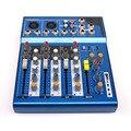 LEORY F4-USB 48V Phantom Power Digital DJ Mischen Konsole 3 Kanal Mic Linie Audio Mixer Konsole 100-240V für KTV