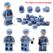 Building Blocks Blue Classic Hat World War 2 Military helmet Army Special Police Soldier Figures Weapons Scenes With Legoinglys(China)