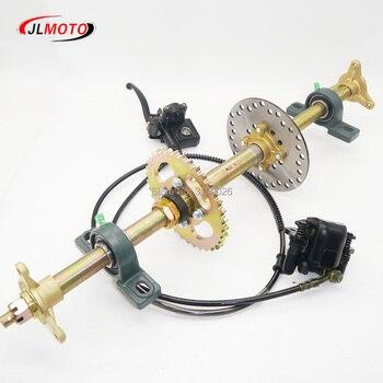Eje trasero de rueda de 710mm M8 * 3 con piñón 428 #37T, freno de disco de 160mm compatible con 125 110CC, piezas para bicicleta eléctrica ATV, Buggy cuádruple