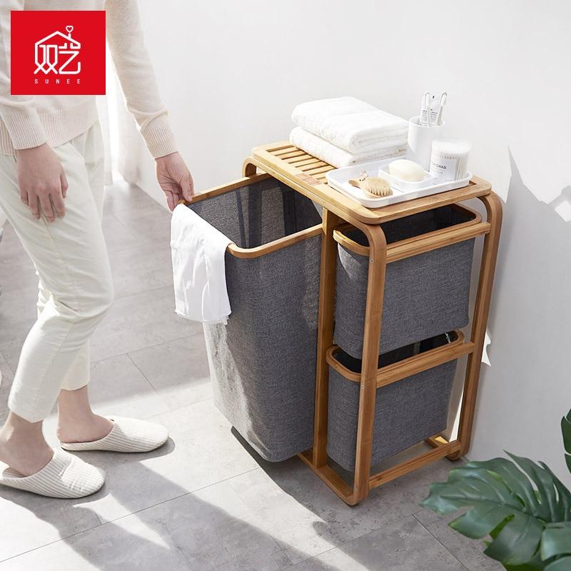 3 Gird de la cesta de ropa sucia cesta baño cesta de lavandería cesta de almacenamiento de organizador de ropa-in Bolsas y cestas de lavandería from Hogar y Mascotas    2
