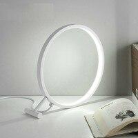 Desige Deco White Magnifier Shaped 18w Led Desk Lamp 220v Bedroom Beside Studying Room Coffee Shop Bar Night Table Lights