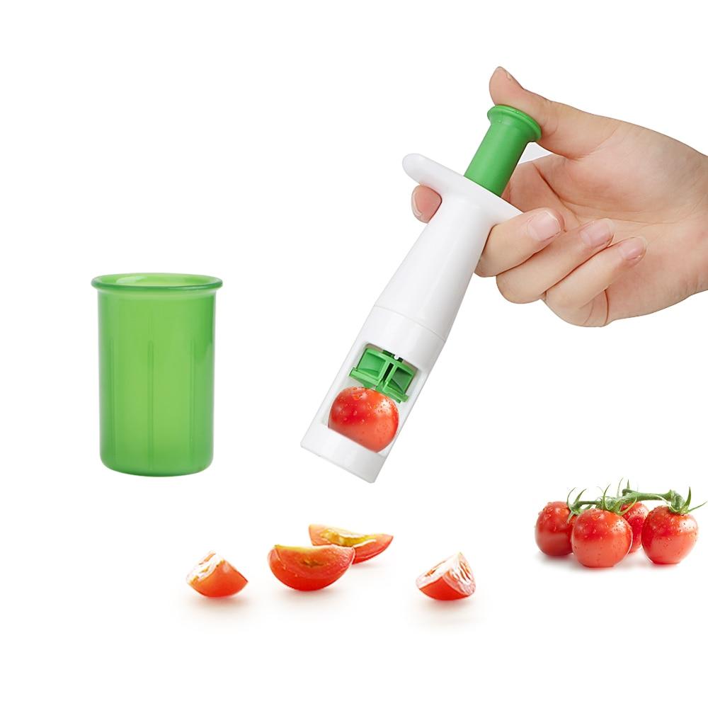 Вспомогательное ребенок Еда Кухня гаджеты фрукты овощерезка Cherry нарезка томатов нож для винограда Многофункциональный