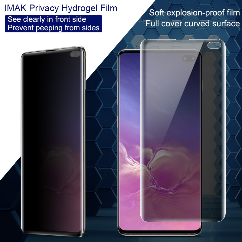 Protect Privacy Anti Glare For Samsung Galaxy S10 S10 Plus Note 10 Plus Pro Screen Protector Imak Anti Spy Curved Hydrogel Film