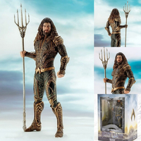 Vogue Aquaman Arthur Curry Orin with Trident of Neptune Justice League Statue DC Comic Super Hero 19cm Figure Figurine Toys