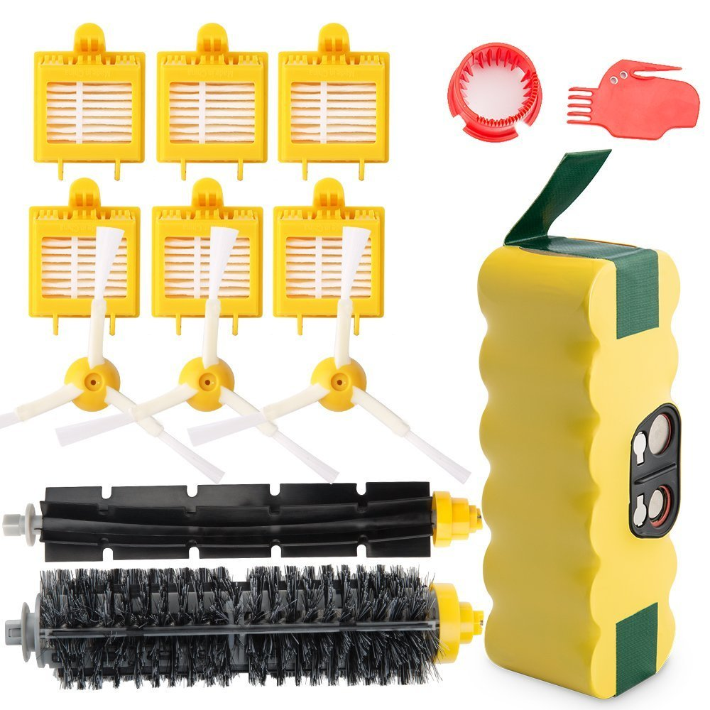 3500Mah Ni-Mh Replacement Roomba Battery + Replacement Accessory Part Kit Fo- A Set Of 143500Mah Ni-Mh Replacement Roomba Battery + Replacement Accessory Part Kit Fo- A Set Of 14