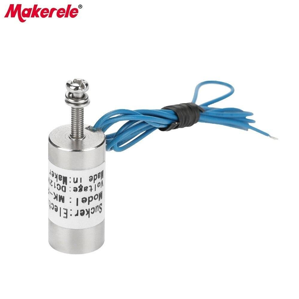MK13 27 Electromagnet Magneet Holding Electric Magnet Lifting 1KG 10N Solenoid Sucker Electromagnet DC6V 12V 24V in Magnetic Materials from Home Improvement