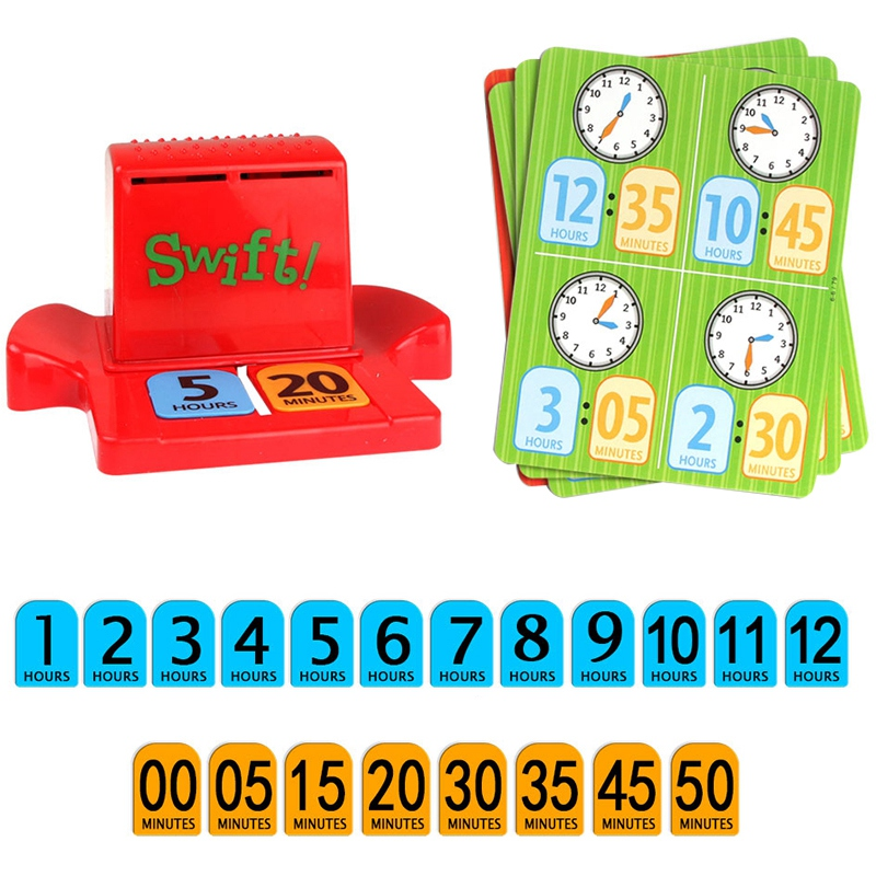 Puzzle Game Learn Time Number Card Baby Kids Time Telling Cards Match Game Time Learning Educational Toys For Kids